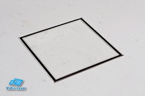 Ralo Oculto Invisível Embutido No Piso Vidro Laser